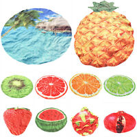 Fruits Design Round Hippie Tapestry Beach Picnic Throw Yoga Mat Towel Blanket AU