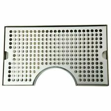 """1 Set 12""""Lx7""""W x 3/4""""T Surface Mount Beer Drip Tray Stainless Steel 304 No Drain"""