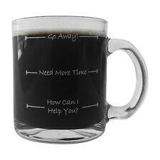 Smart Brands - Go Away Glass Coffee Mug, morning coffee funny glass mug