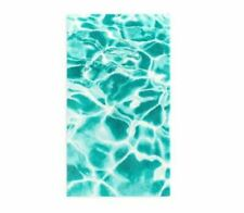 ABYSS HABIDECOR PISCINE TURQUOISE WHITE ABSTRACT RUG EGYPTIAN COTTON $475