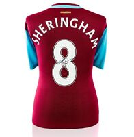 Teddy Sheringham Signed West Ham United Shirt - Number 8 Autograph Jersey