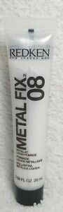 Redken Metal Fix 08 Metallic SILVER Liquid Pomade Control Medium .68 oz/20mL New