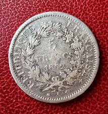 France - 3eme République - Rare monnaie de 5 Francs 1872 A - type Hercules