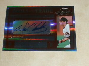 2004 Playoff Absolute Tools of the Trade Autograph Auto Will Clark 04/25