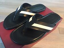 500$ Bally Venzio Black Leather Sandals size US 12.5 Made in Italy