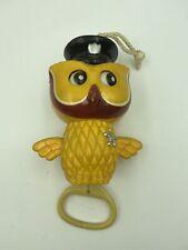 Vintage Owl Baby Toy Plays Brahms Lullaby Mid Century RARE