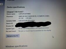 Lenovo IdeaPad 330 15.6 inch (1TB, AMD A9-9425, 3.10GHz, 8GB) Laptop - Silver -…