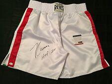 "Julio Cesar Chavez Signed Mexico Cleto Reyes Boxing Trunks ""HOF 2011"" PSA"