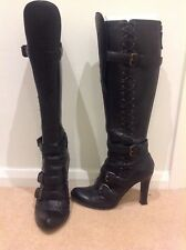 ALEXANDER McQUEEN LONG BLACK BOOTS EU 36.5 in DUST BAG (with small defect)