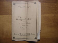 1896 SAINT GILLES Patin Baroin Ridard ADJUDICATION NOTAIRE Gaubert Manuscript