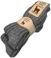 2 Paar normani® Alpaka-Socken 100 % Alpaka mit Schafwolle super warm