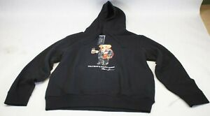 NWT POLO Ralph Lauren (Men's) Bear Black Hoodie Mug Coco (M, L, XL, 2X)