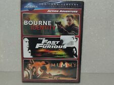 Bourne Identity / The Fast & the Furious / The Mummy (DVD-3 movie set) ~ New!