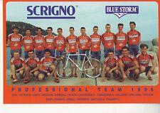 CYCLISME carte  cycliste  équipe SGRIGNO BLUE STORM 1996 avec PETACCHI