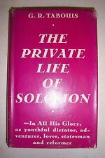PRIVATE LIFE OF SOLOMON By G. R. Tabouis. Illustrated, maps. 1936 HCDJ
