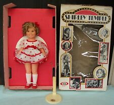 Vintage 1972 Ideal Shirley Temple Doll with stand & box Stand Up And Cheer 1125