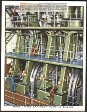 Huge Triple Expansion Water Pumping Engine c80 Y/O Trade Ad Card