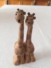 "Vintage Giraffe ""Couple�Clay Pottery Figurine, Adorable"
