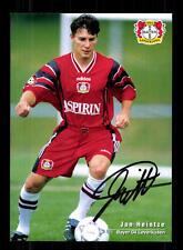 Jan Heintze Autogrammkarte Bayer Leverkusen 1997-98 Original Signiert+ A 133273
