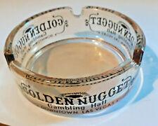 New ListingVintage Golden Nugget Casino Gambling Hall Downtown Las Vegas Glass Ashtray