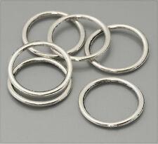 20x Tibetsilber Metall Ringe Spacer 19mm ms368
