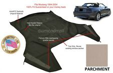 Ford Mustang Convertible Soft Top (Top Section Only) PARCHMENT Sailcloth 1994-04