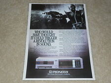 Pioneer P-D70 First Pioneer Player Ad, 1 page, Article, Audio History! 1984