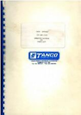 Tanco Bale Wrapper Autowrap Cut and Start Operators Manual with Parts List