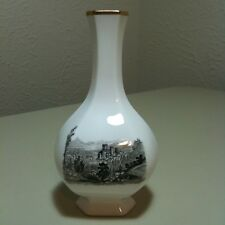 Vintage Royal Worcester Fine Bone China Landscape Bud Vase 4.5""