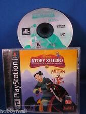 Playstation PS1 Disney Story Studio Mulan Video Game