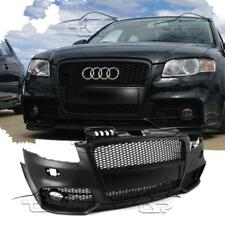 Front Bumper for AUDI A4 B7 8e 04-08 RS LOOK Body Kit Black Grill No PDC