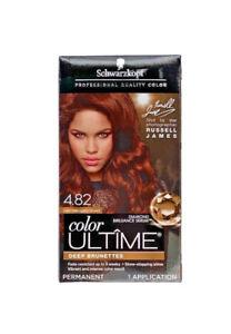 Schwarzkopf Color Ultime Permanent Hair Color 4.82 Dark Mahogany Brown