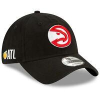 Atlanta Hawks New Era Team Localized 9TWENTY Adjustable Hat - Black