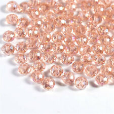 Glass Spacer Beads For Earring Bracelet New Diy 100Pcs4Mm Pink Round Crystal