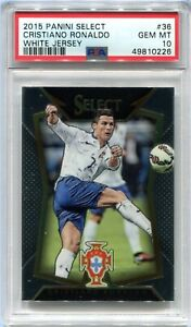 2015-16 Select 36 Cristiano Ronaldo White Jersey PSA 10 GEM MT POP 230