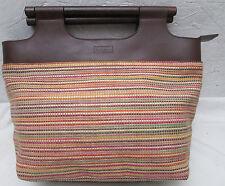 -AUTHENTIQUE  sac à main  vintage SOCO  cuir et raphia  TBEG   bag