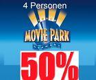 ✅ Movie Park 2021 ⭐ 4 Pers Gutschein Rabatt online Code Ticket Eintrittskarten <