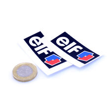 "2x ELF huile STICKERS VOITURE 2"" 50 mm Sports Racing Autocollants Vinyle Autocollant"
