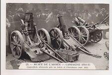 musée de l'armée campagne 1914-15 crapouillots allemands pris en artois
