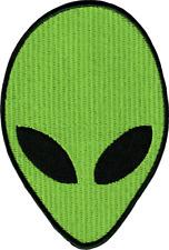 39221 Green Alien Head Martian Extraterrestrial Space UFO Sci-Fi Iron On Patch