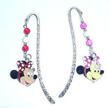 Two Minnie Mouse Enamel Charms on a Tibetan Silver Novelty Bookmarks