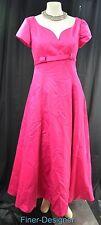 Jordan wedding Dress formal gown vintage 80 hot pink ankle dress SZ 9 10 VTG NEW