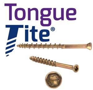 Tongue-Tite - Tongue & Groove Torx Screw 3.5 x 45mm - Box Of 200 + Free Torx Bit