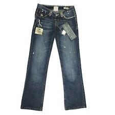 Womens Designer Jeans 29 x 34 Taverniti Denim Janis Distressed Low Rise Boot Cut