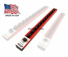 Mechanics Time Saver 3/8 in Drive Lock A Socket Rail Rack MTS USA Made 12 Clip