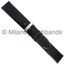 20mm Di Modell Black Genuine Lizard Classic Handmade Unstitched Watch Band Reg