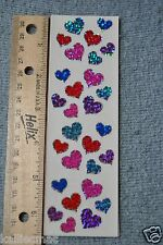 Mrs Grossman HEARTS, JEWEL SPARKLE Stickers JEWEL HEARTS