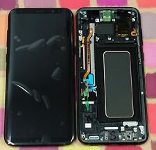 GENUINE BLACK SAMSUNG SM-G955F GALAXY S8 PLUS SCREEN AMOLED 2k LCD FRAME DISPLAY