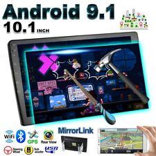 10.1'' Double 2 DIN Android 9.1 Car Stereo FM Radio GPS Navi WIFI Quad Core USB