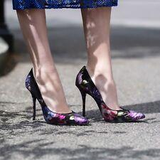 £169-New-Kurt-Geiger-London-Ellen-floral-print-suede-court heels UK5 EU38